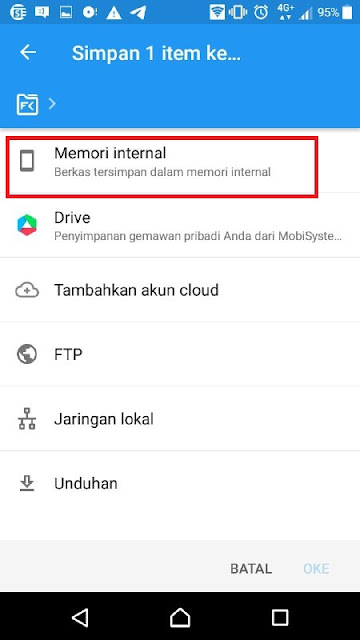 simpan ke memori Internal