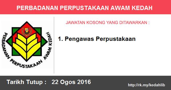 Jawatan Kosong di Perbadanan Perpustakaan Awam Kedah