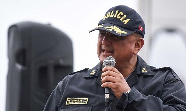 El director general de la Policía Nacional del Perú (PNP), Richard Zubiate