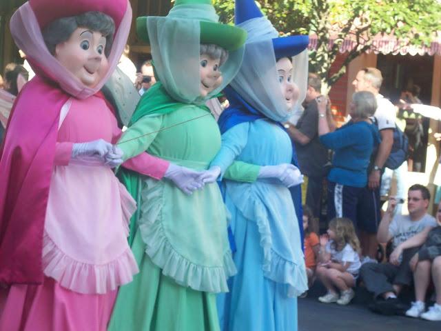 Flora Fauna Merryweather Faries Masks Magic Kingdom Parade