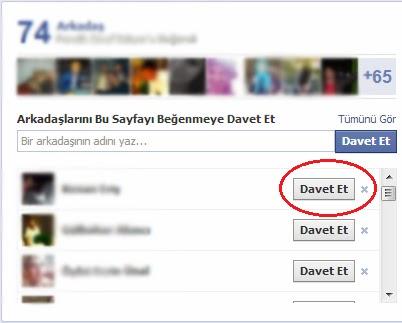 Facebook Davet Beğen