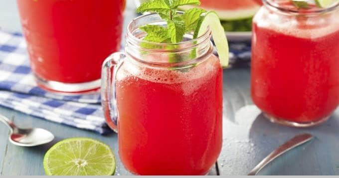 طريقة عمل عصير البطيخ الأحمر