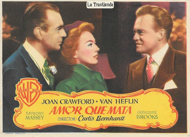 Programa de Cine - Amor que Mata - Joan Crawford - Van Heflin