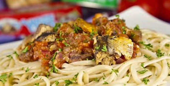 Espaguetis Con Sardinas