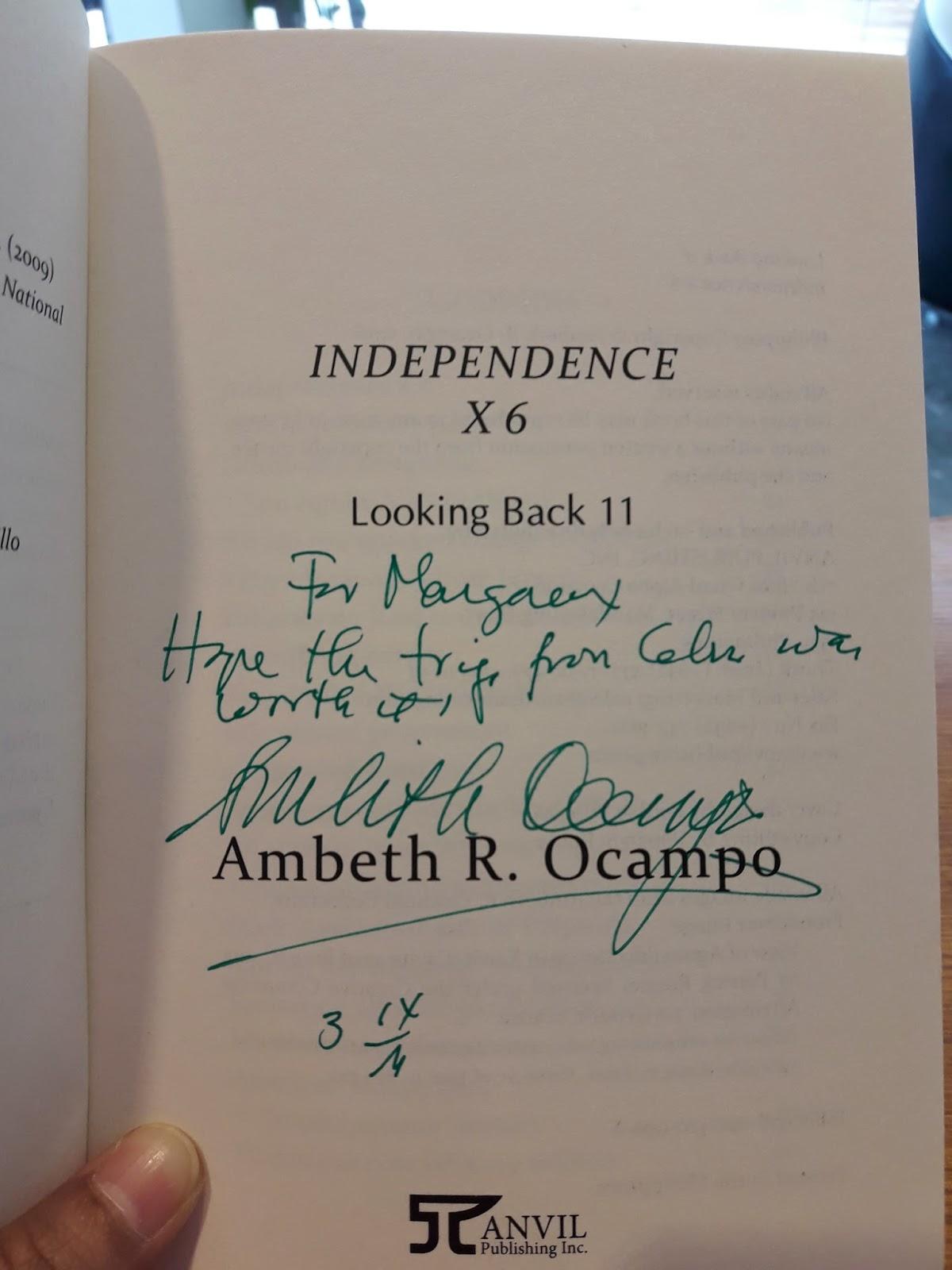 The Filipino Blogger meets Ambeth Ocampo the Hugot Historian