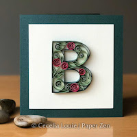 Quilling Letter B Monogram