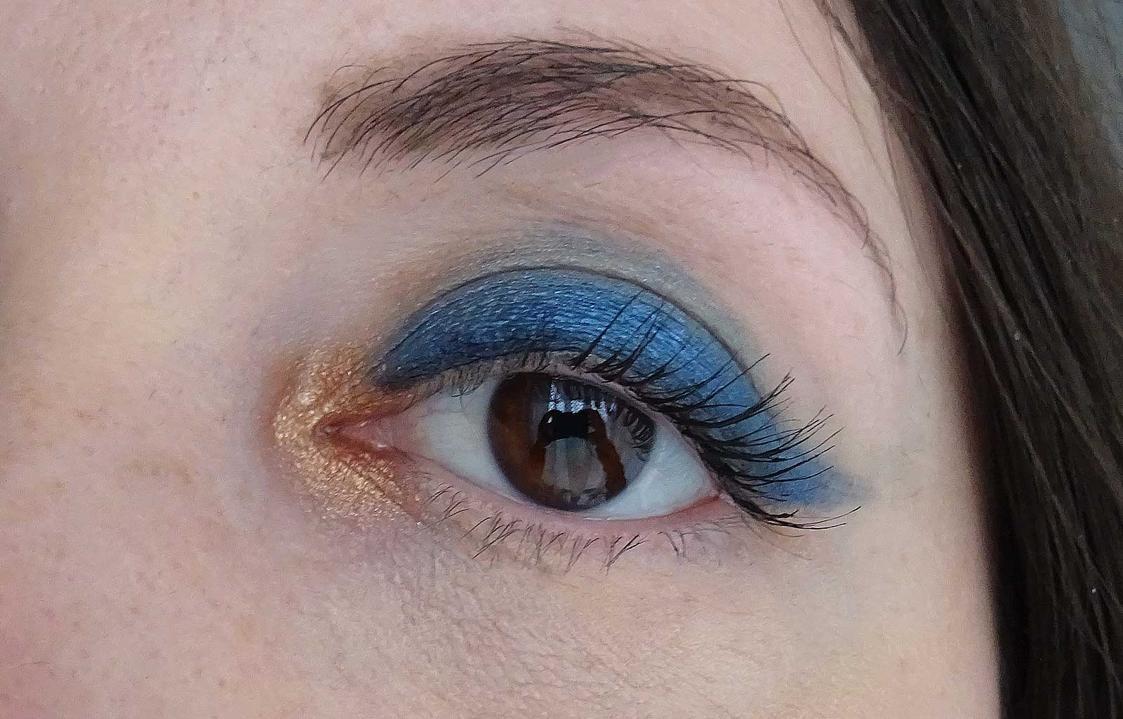 tutoriel maquillage classic blue bleu