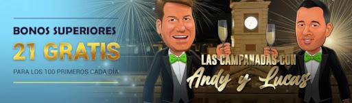 Todoslots Las Campanadas con Andy & Lucas 21 bonos superiores gratis