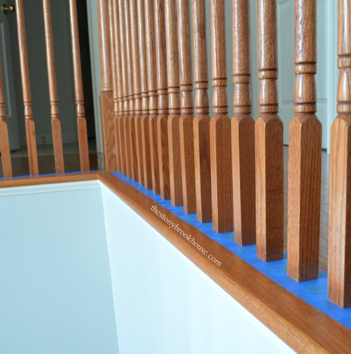Base Stair Spindles Taped
