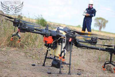 survey foto udara drone spray