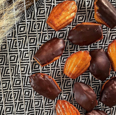 Madeleines gourmandes healthy coques en chocolat Charlotte and cooking