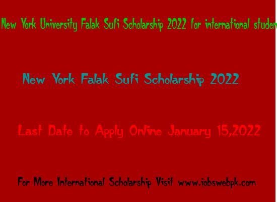 new-york-university-falak-sufi-scholarship-2022