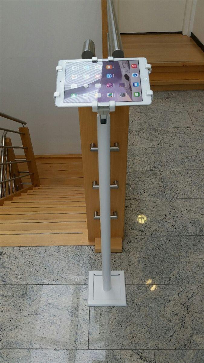 Gripzo落地型防盜支架可應用於開放空間例如:飯店、酒店、展覽會場、圖書館、等需要以平板電腦輔助銷售、提供資訊需求的各式場地使用,落地型平板防盜支架