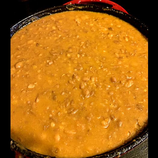 Easy Refried Beans in pot