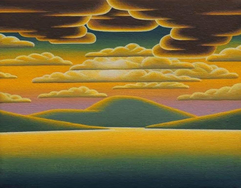 paisajes modernos naif pinturas al leo de paisajes decorativos
