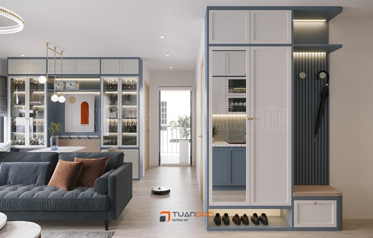Thiết kế nội thất căn hộ 2PN+1 (65m2) tòa S3.03 Vinhomes Smart City