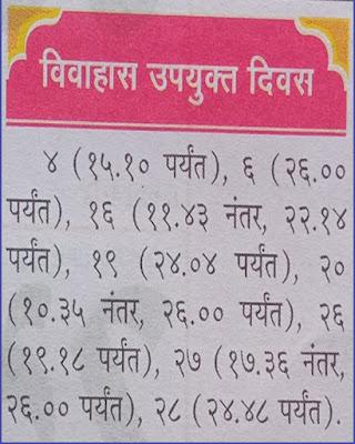 Marathi Shubh Vivah and Shadi Muhurat in June 2021