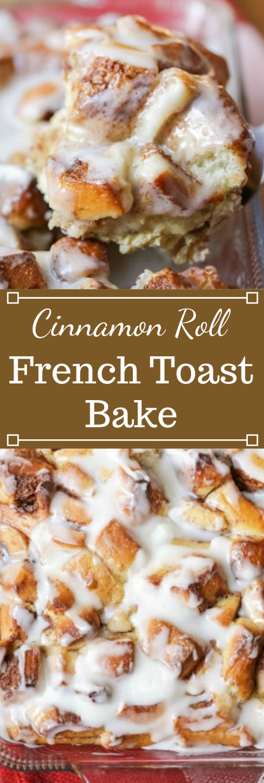 CINNAMON ROLL FRENCH TOAST BAKE #healthy #diet #cinnamon #roll #paleo