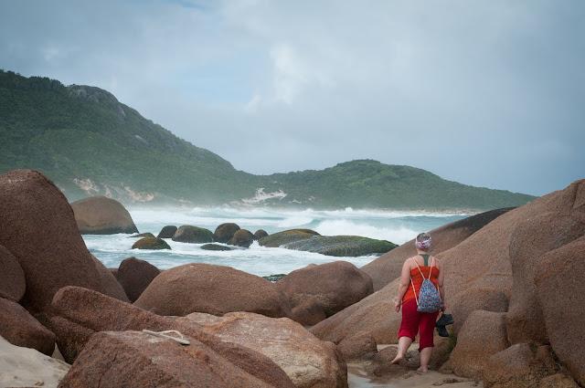 Praia Mole din Florianópolis, Brazilia