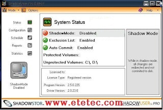 Shadow User Pro to save the system better than Deep Freeze