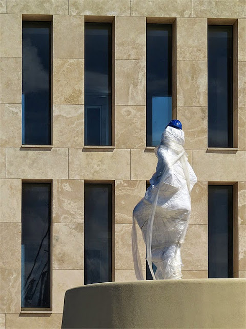 Covered sculpture, new building, Scoglio della Regina, Livorno