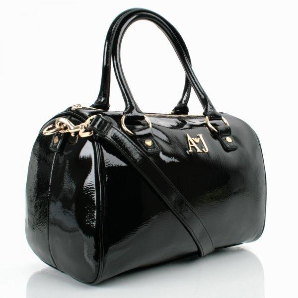 63a7dec1a791 Armani Jeans Black Patent Women s Shoulder Bag