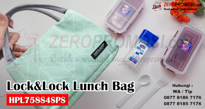 Souvenir Lock & Lock New Lunch Bag, lock&lock Set kode HPL758S4SPS, Souvenir One Set Lunch Bag Lock & Lock