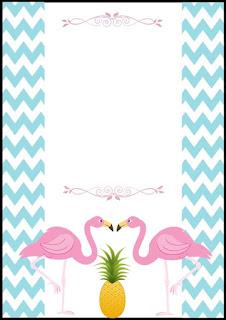 convite festa flamingo