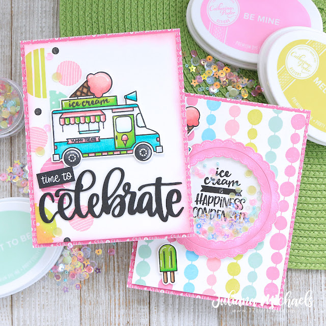 Ice Cream Cards by Juliana Michaels featuring Catherine Pooler Designs available at Scrapbook.com
