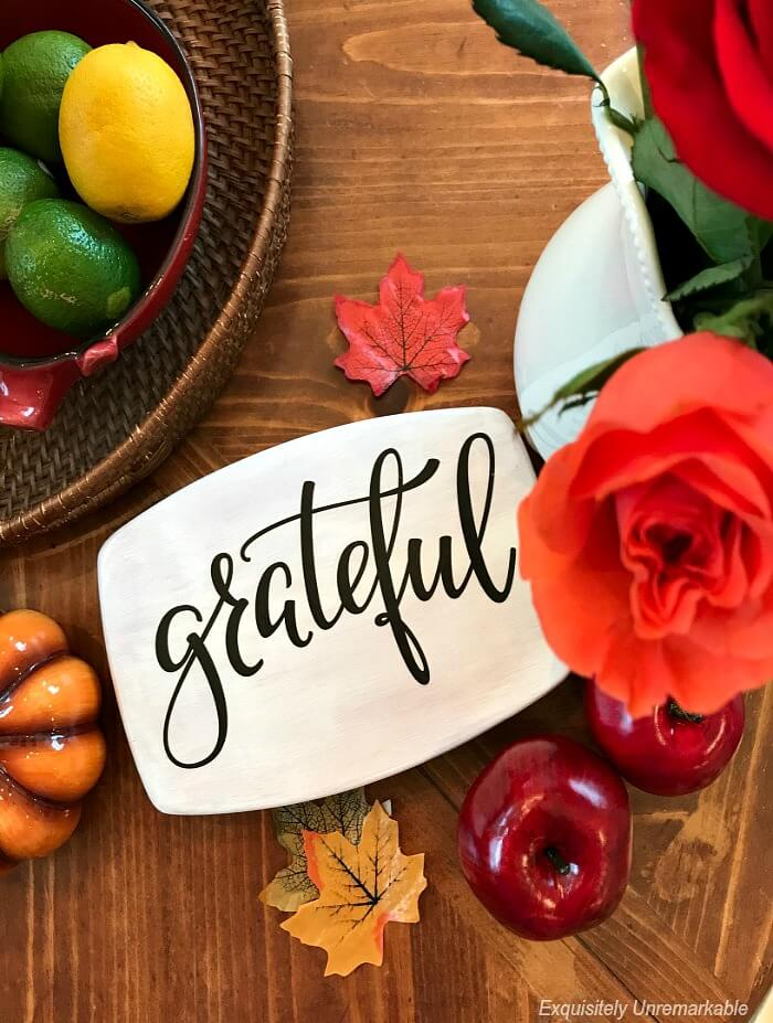 Grateful Cutting Board for Fall