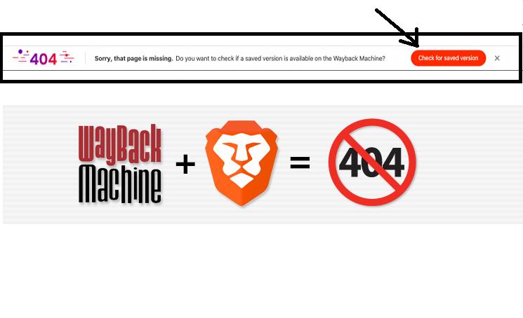 Brave-browser-404-Wayback-Machine-to-show-404