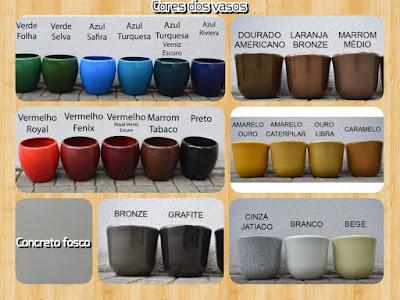 vasos em fibra de vidro