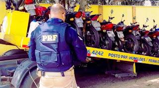 70 motocicletas recolhidas por irregularidades em diversos trechos das rodovias federais baianas