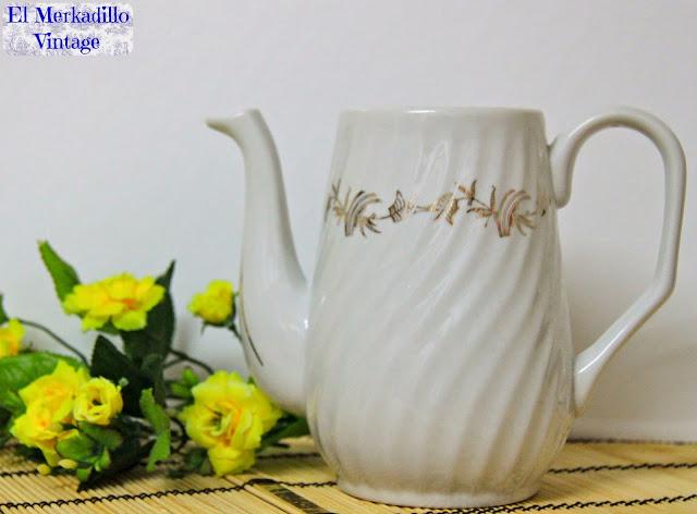 """Cafetera de Porcelana vintage """"Royal Gijón"""""""
