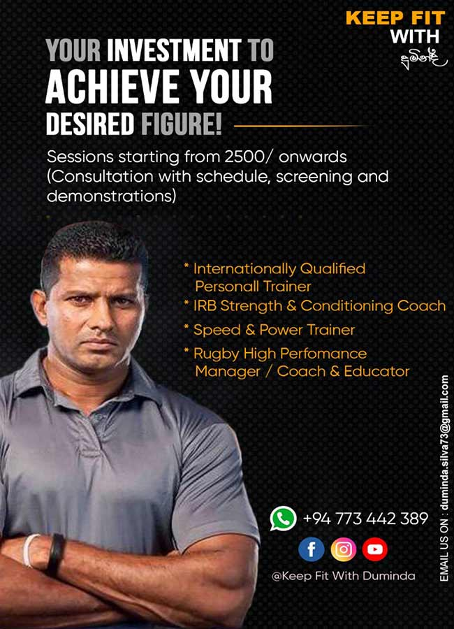 Your Investment to Achieve Your Desired Figure | Keep fit with Duminda