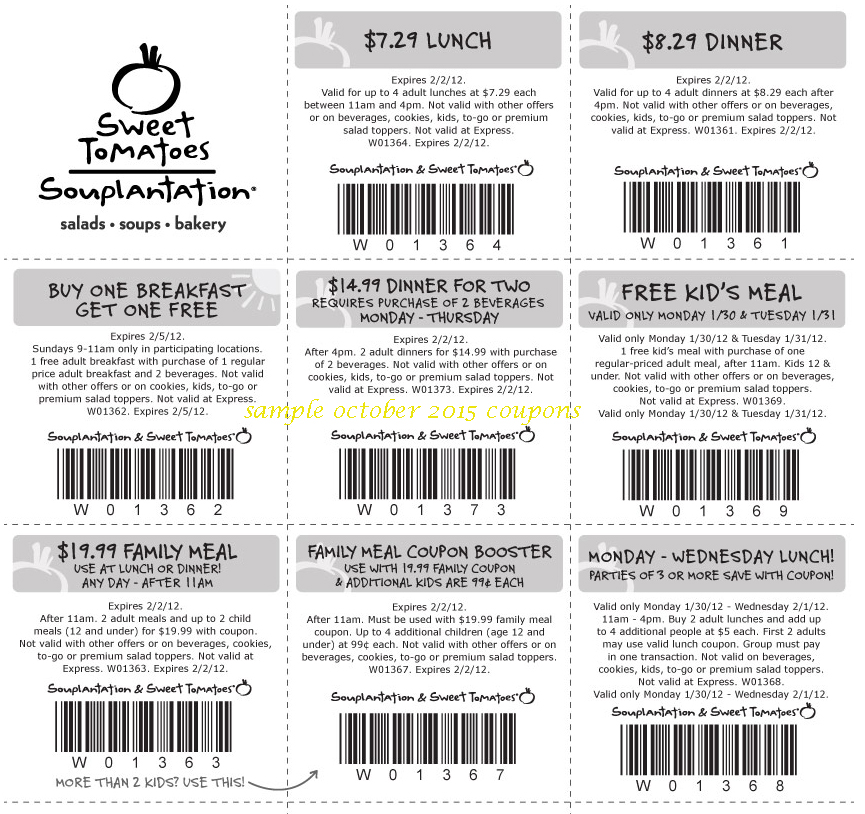 photograph regarding Sweet Tomatoes Printable Coupons identify Cute tomatoes relatives coupon oct 2018 / Barilla pasta