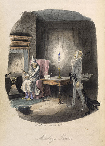 Marly's ghost visits Scrooge