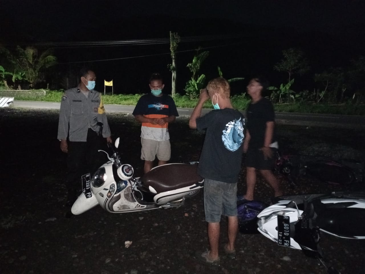 Bubarkan Balap Liar, Polisi Amankan Empat Orang dan Sepuluh  Motor di Bobotsari