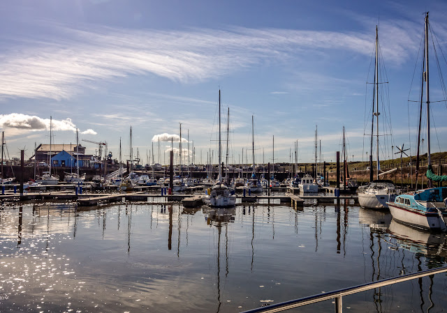 Photo of the calm conditions as we left Maryport Marina last Friday