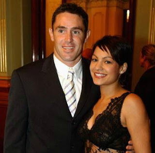 Marie Liarris with her husband Brad Fittler