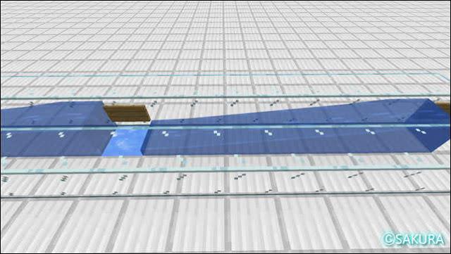 マインクラフト アイテムを運ぶ水路