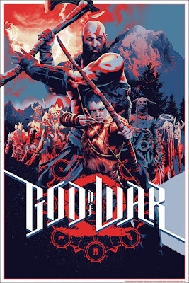 God of War Screen Print by Matt Taylor x Mondo