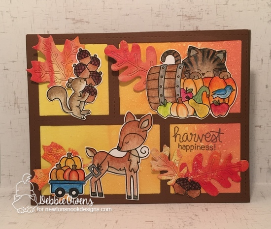 Harvest happiness by Debbie features Harvest Tails, Autumn Newton, and Autumn Leaves by Newton's Nook Designs; #newtonsnook
