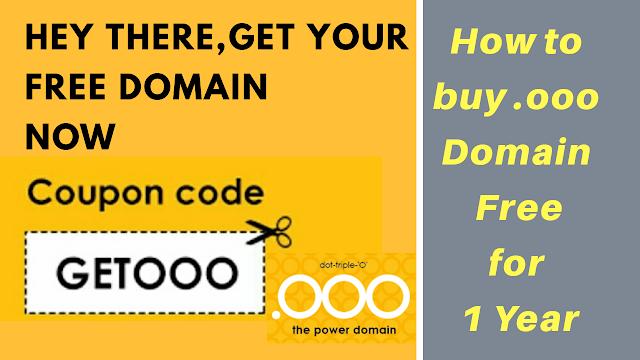 How to buy .ooo (dot ooo) domain Free