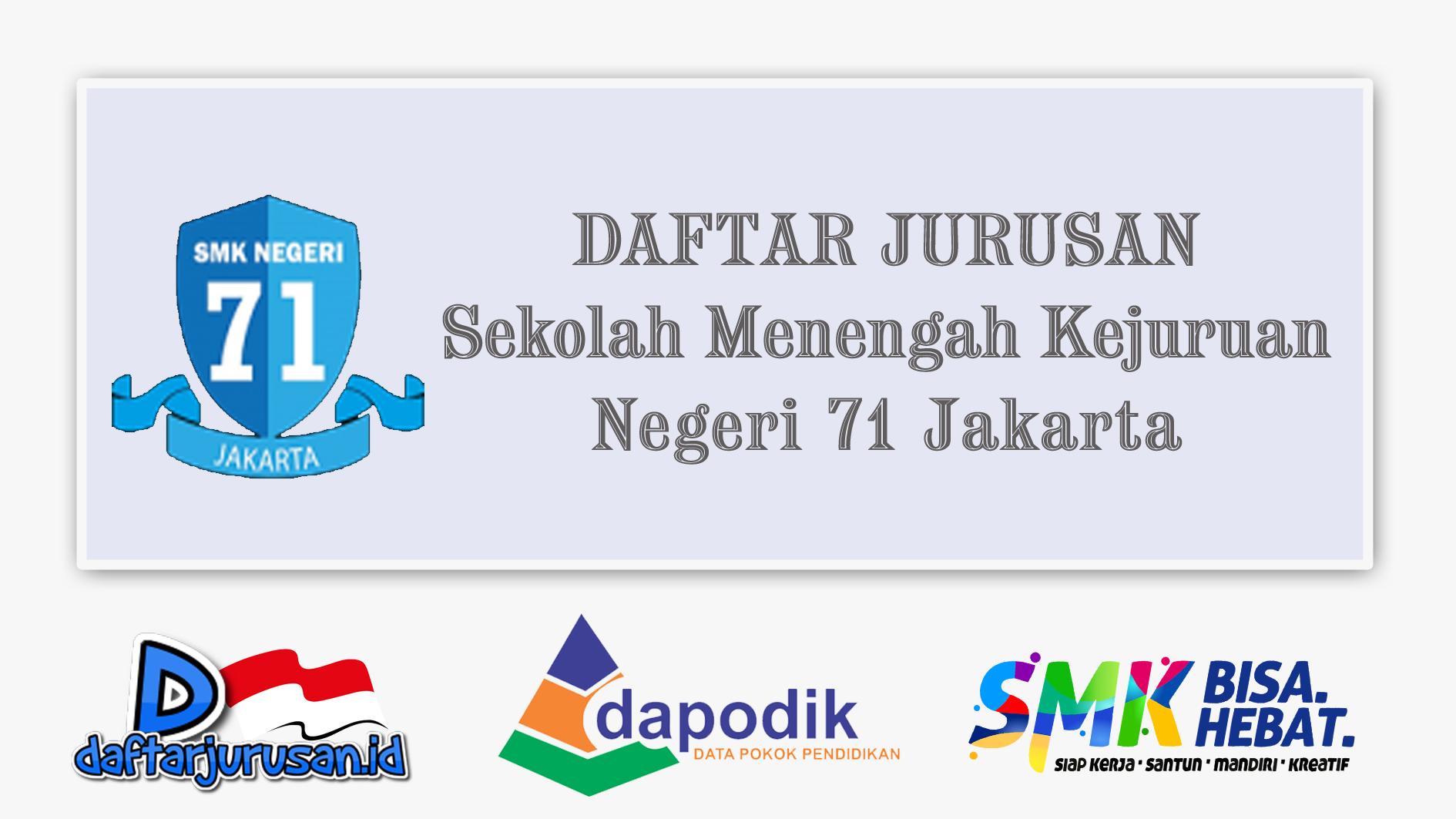 Daftar Jurusan SMK Negeri 71 Jakarta Timur