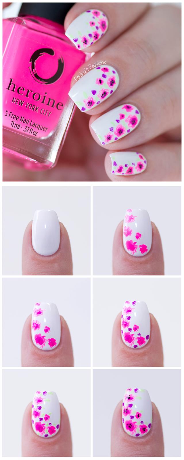 Tutorial Easy At 101 Nail Tutorials Blog Floral Nails Pictorial