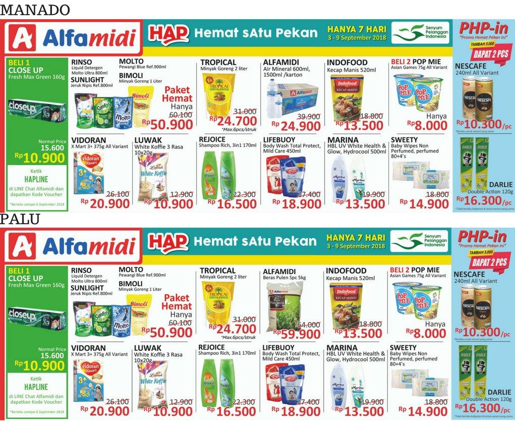 Alfamidi - Katalog Promo Hemat Satu Pekan Periode 03 - 09 Sept 2018