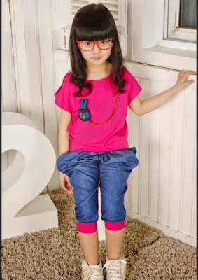 Contoh Baju Casual Smart Fashion Show Anak Perempuan