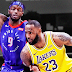 Back-to-Back tiga angka dari Lebron James bawa Lakers menang atas Pistons