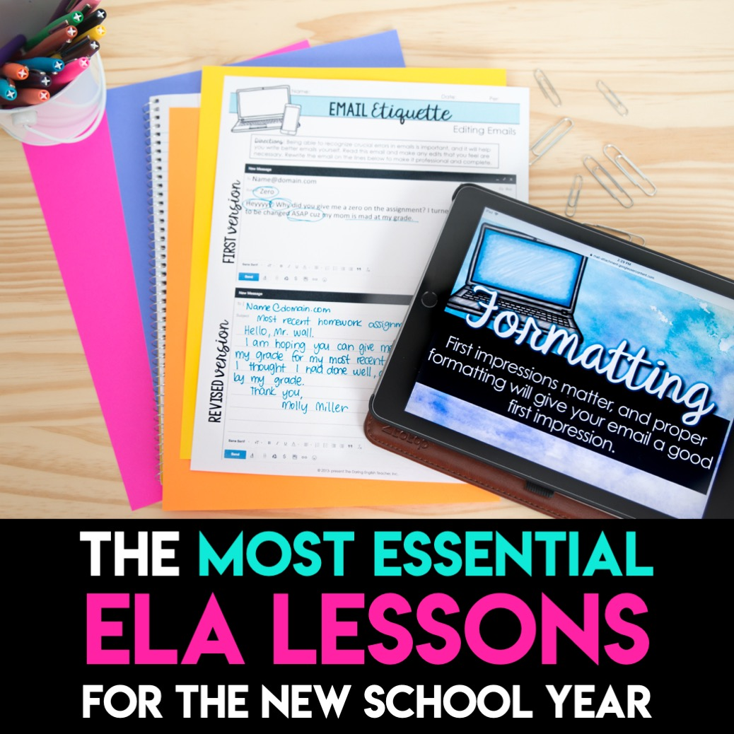 The Most Essential ELA Lessons | The Daring English Teacher